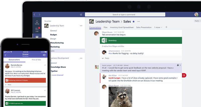 alt = '' microsoft teams mobile and pc overview ''