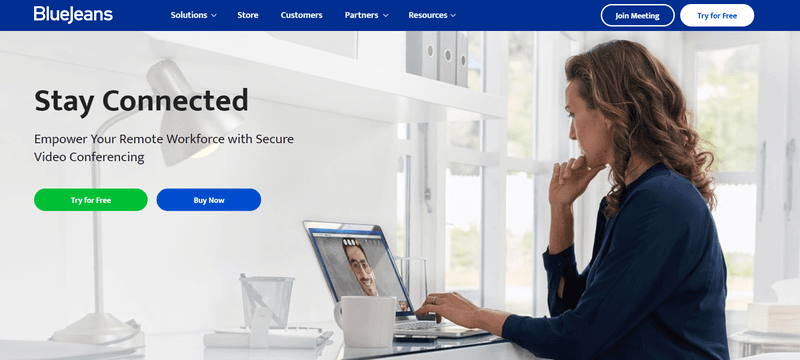 BlueJeans Landing Page
