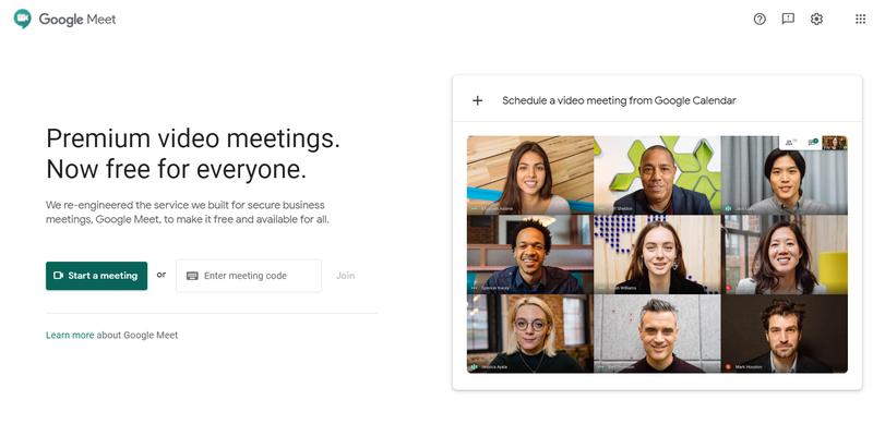 Google Meet landing page