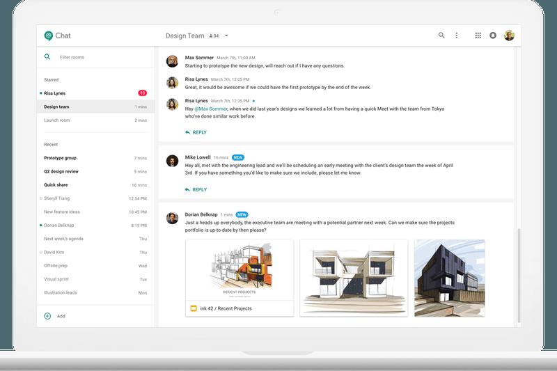alt = '' Slack app alternative hangout chat by google pc overview ''