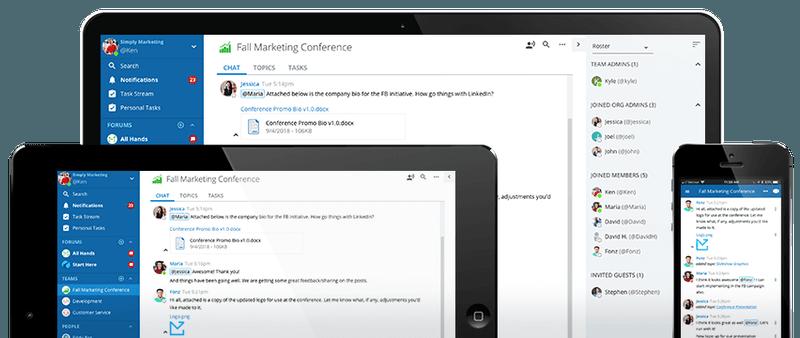 alt = '' Slack app alternative ryver mobile,tablet and pc overview ''