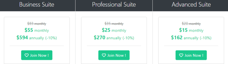 Social Oomph pricing