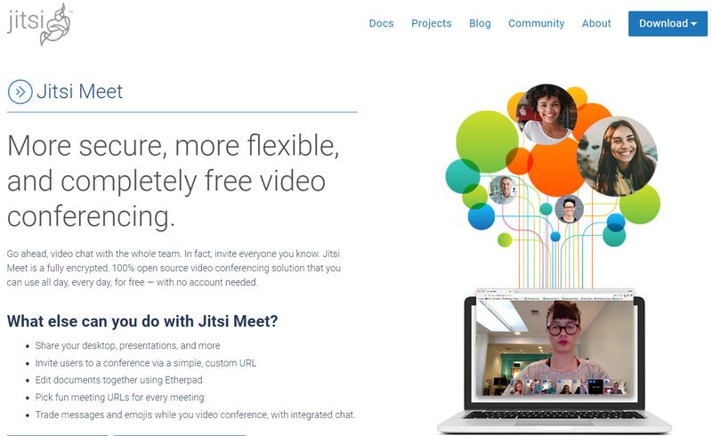 Jitsi Meet Landing Page