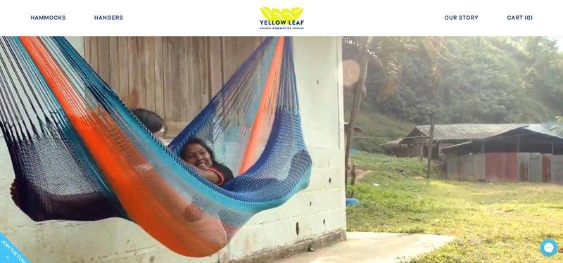 a woman lying on hammock