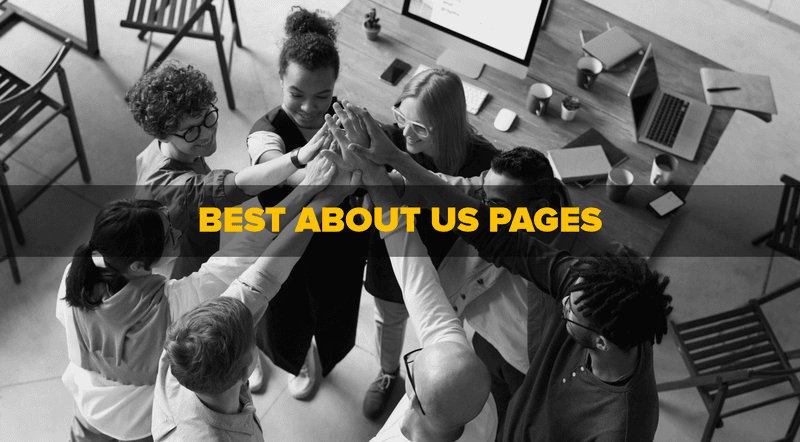 team huddle best about us pages text
