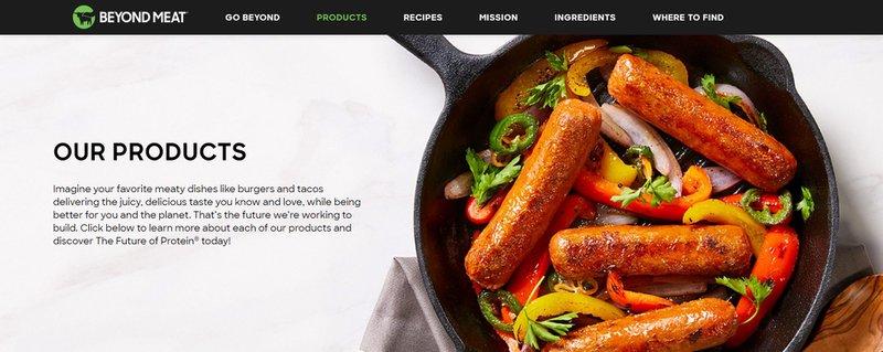 food product description for Beyond Meat