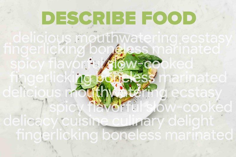 food product description