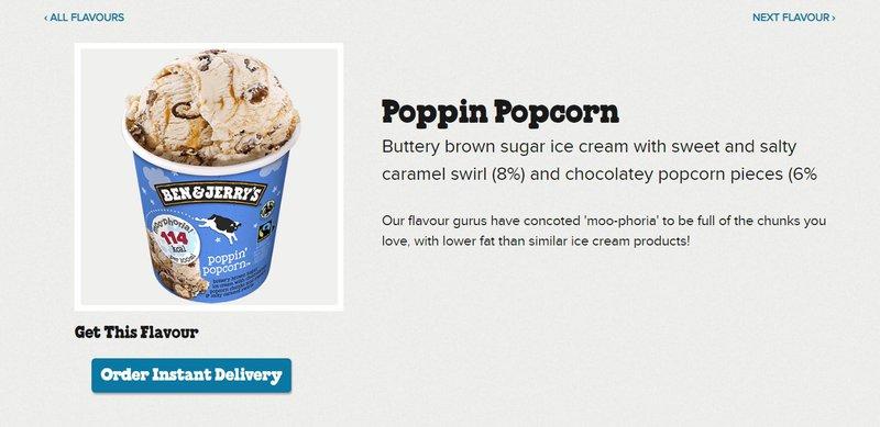 ice cream food product description