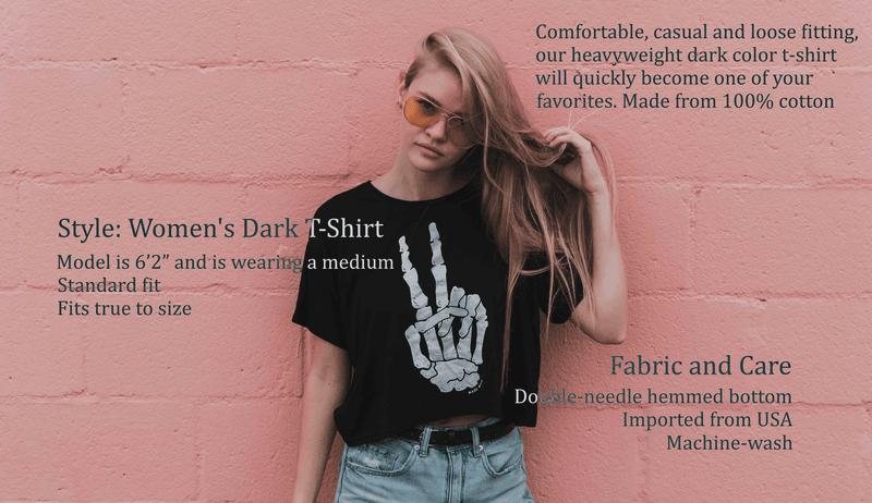 girl in dark t-shirt product description