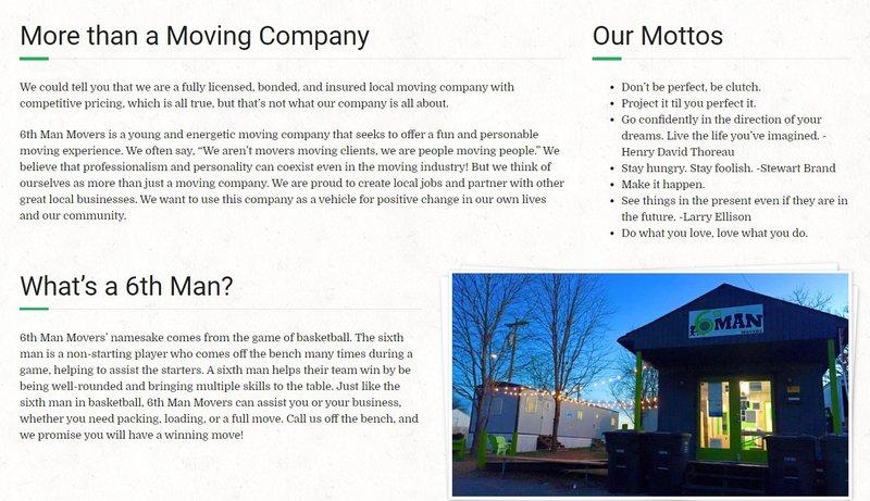 about us page description a house