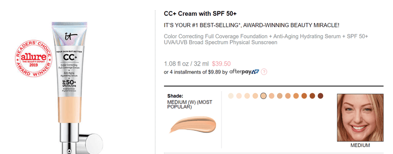 alt = '' It Cosmetics CC cream description ''