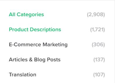 categories for product description