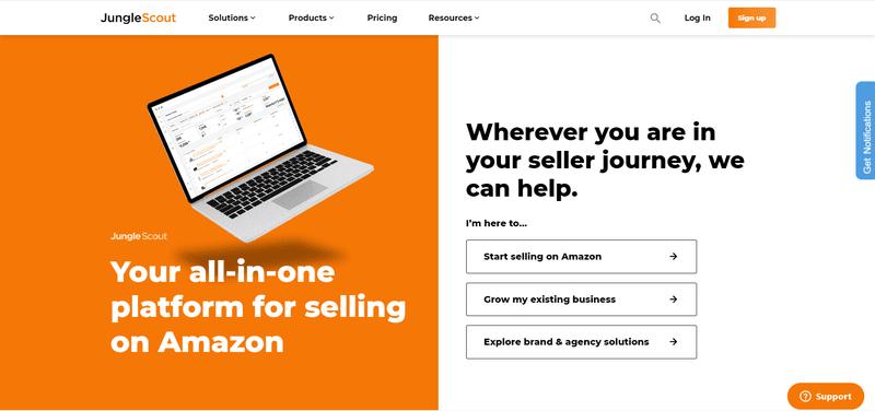 Jungle Scout Amazon Website