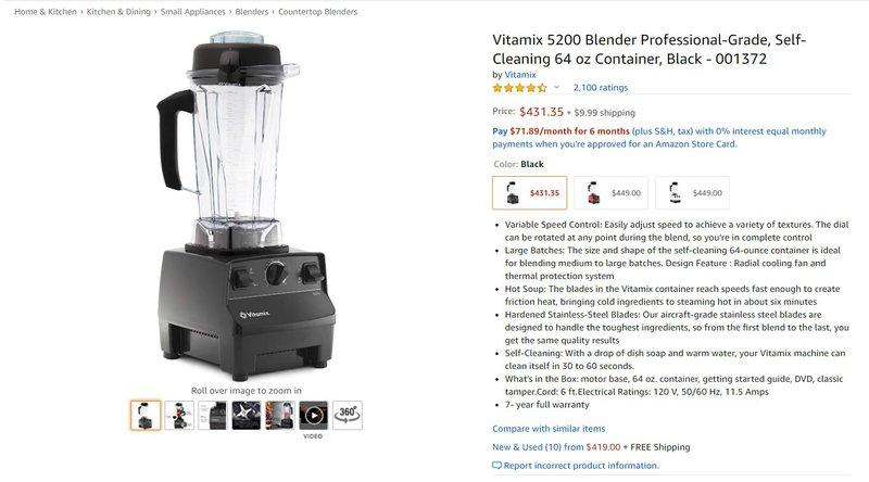 product description for blender